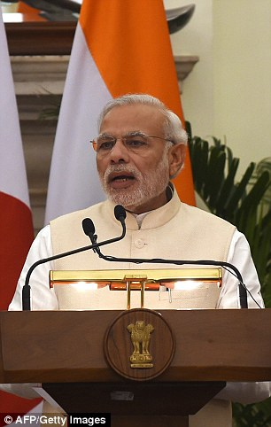 Mrs May will meet Indian PM Narendra Modi during her visit next month