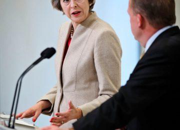 Theresa May meets Danish Prime Minister Loekke